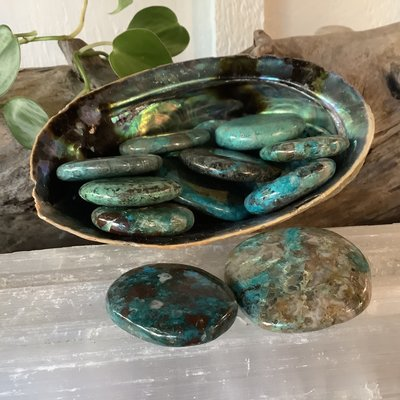 Chrysocolla Palm Stone