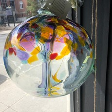 """Kitras Glass Ball 10"""" Tree of Creativity"""
