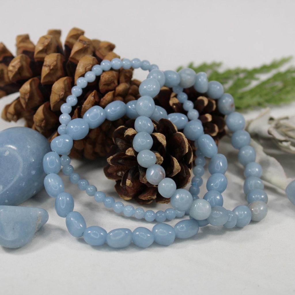 Angelite Tumbled Bracelet