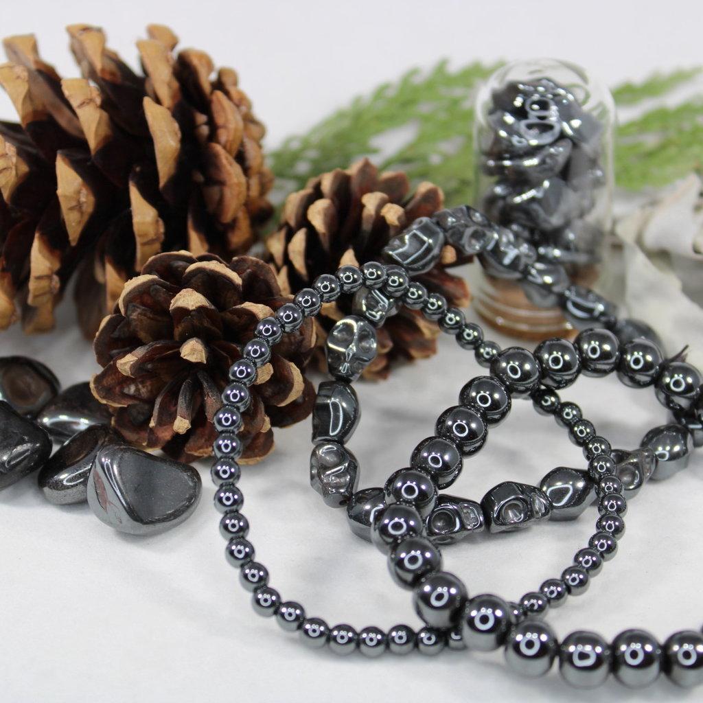 Hematite Skull Bracelet