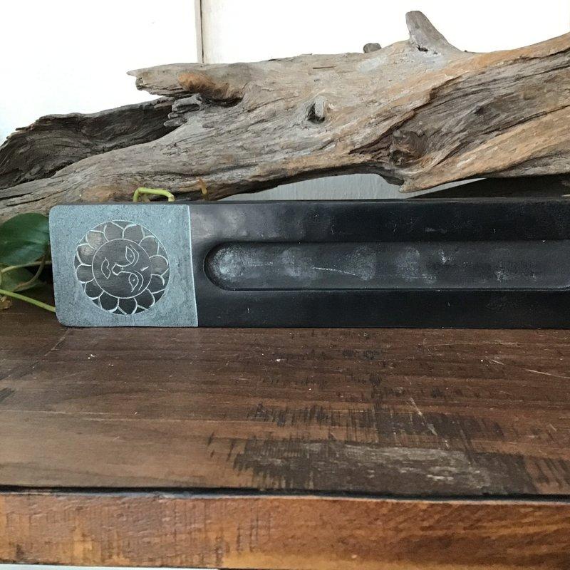 Sun Soapstone Incense Burner