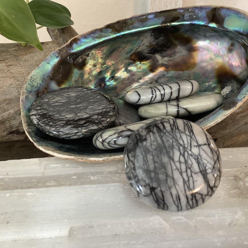 Picasso Jasper Large Palm Stone