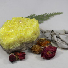 Sulphur Raw Crystaline Cluster