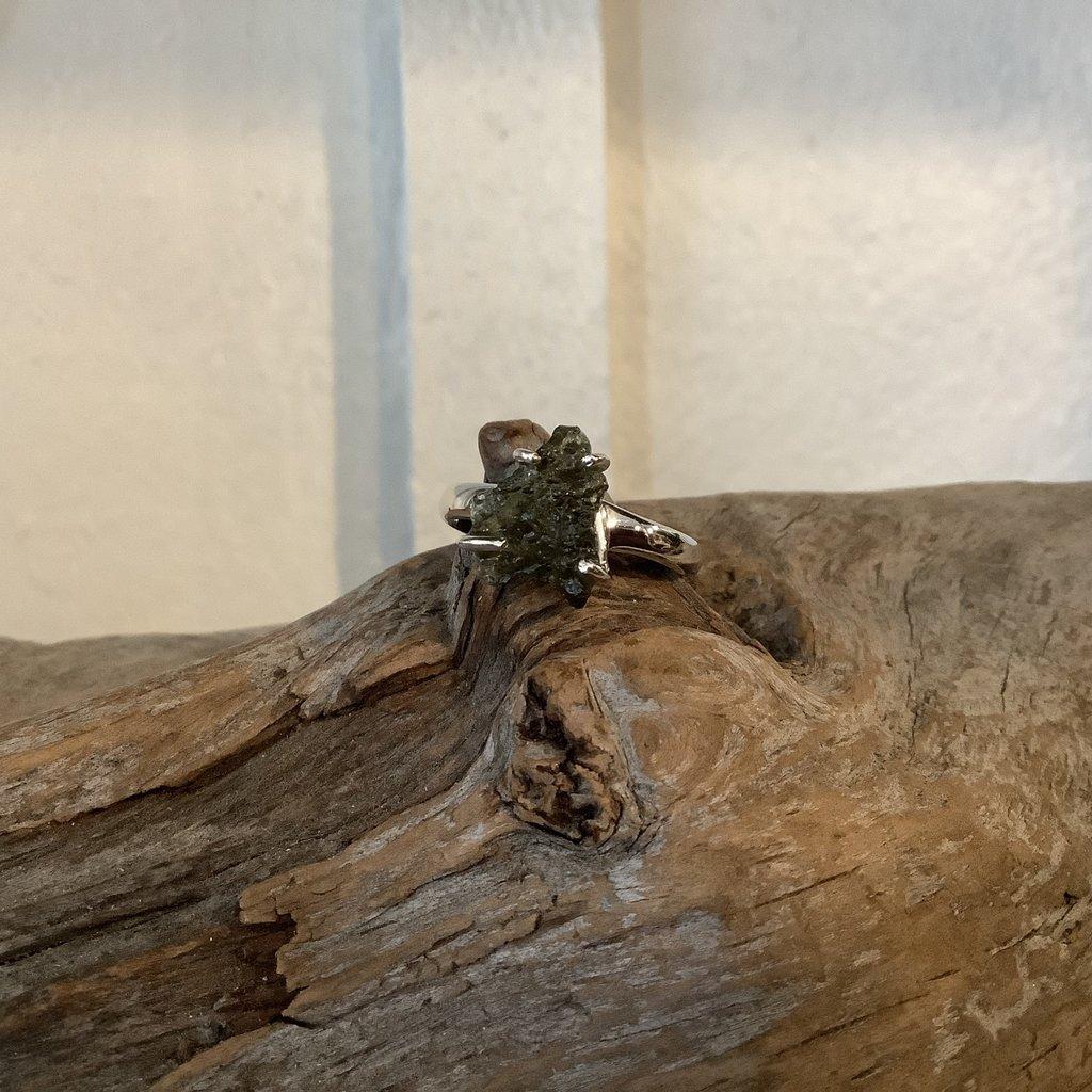 Moldavite ring size 8