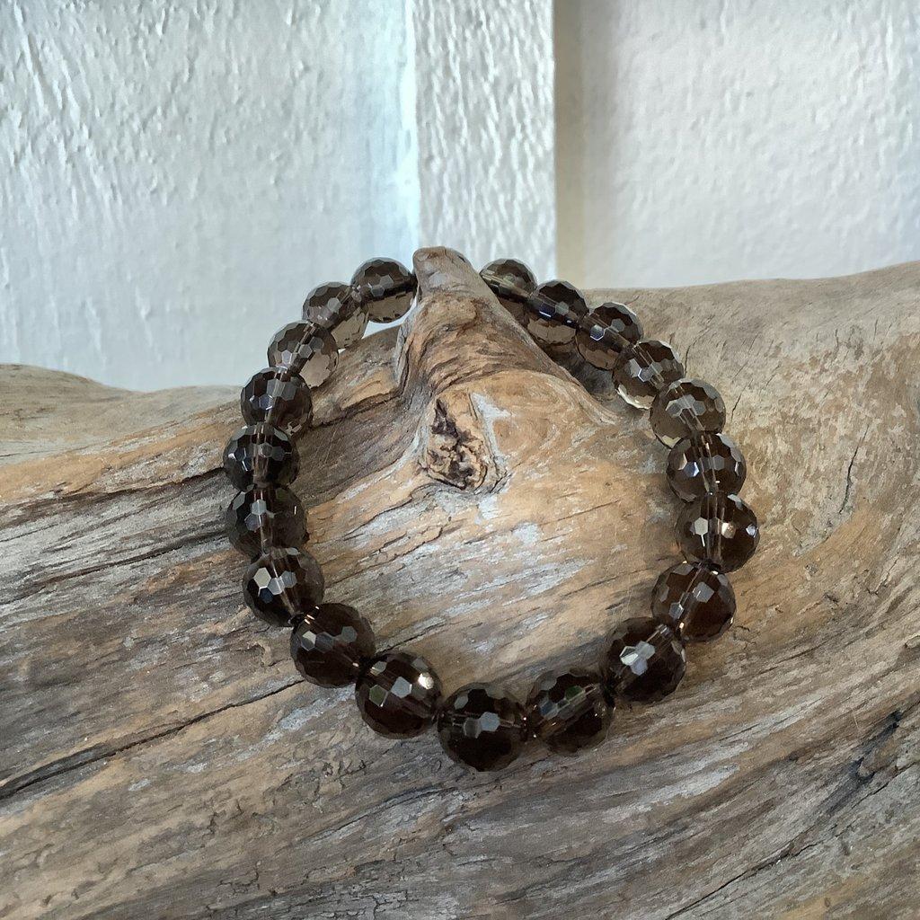 Smoky Quartz Faceted Bracelet