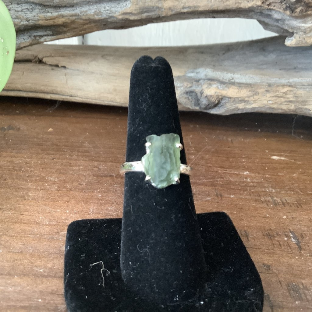 Moldavite Ring Size 7