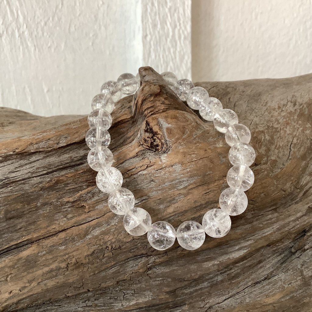 Fire Crackled Quartz Bracelet