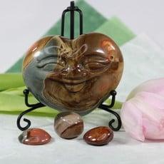 Polychrome Jasper Heart Face