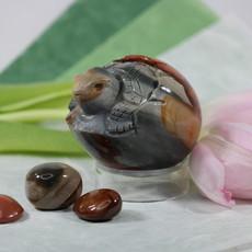 Polychrome Jasper Egg Turtle