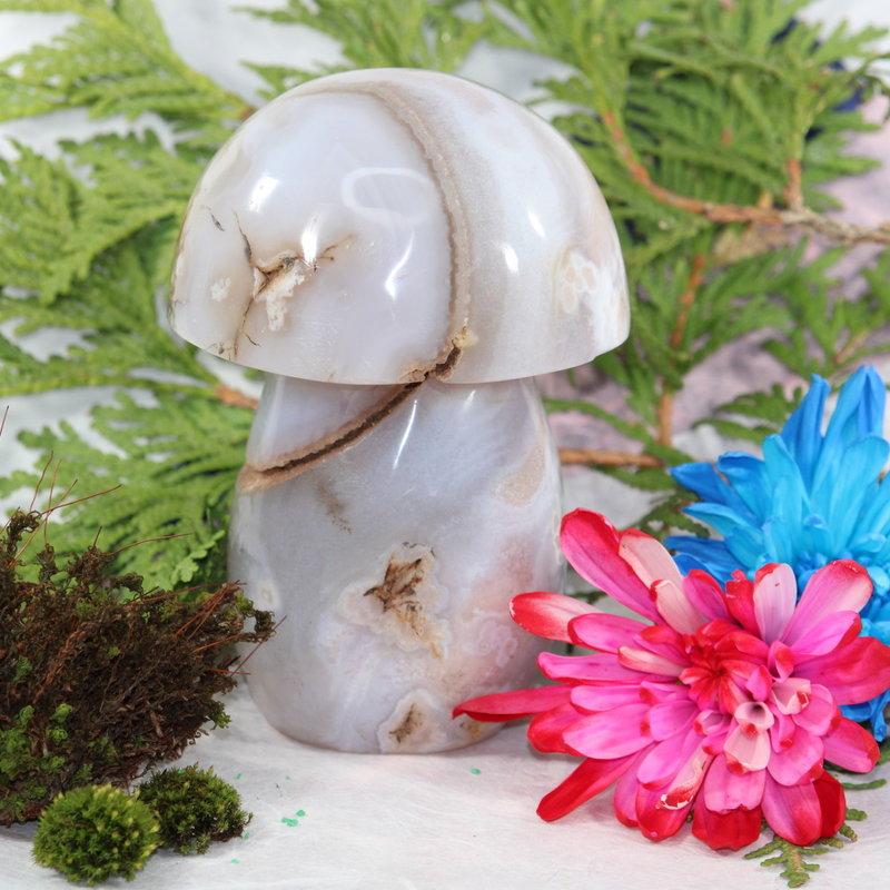 Flower Agate Mushroom