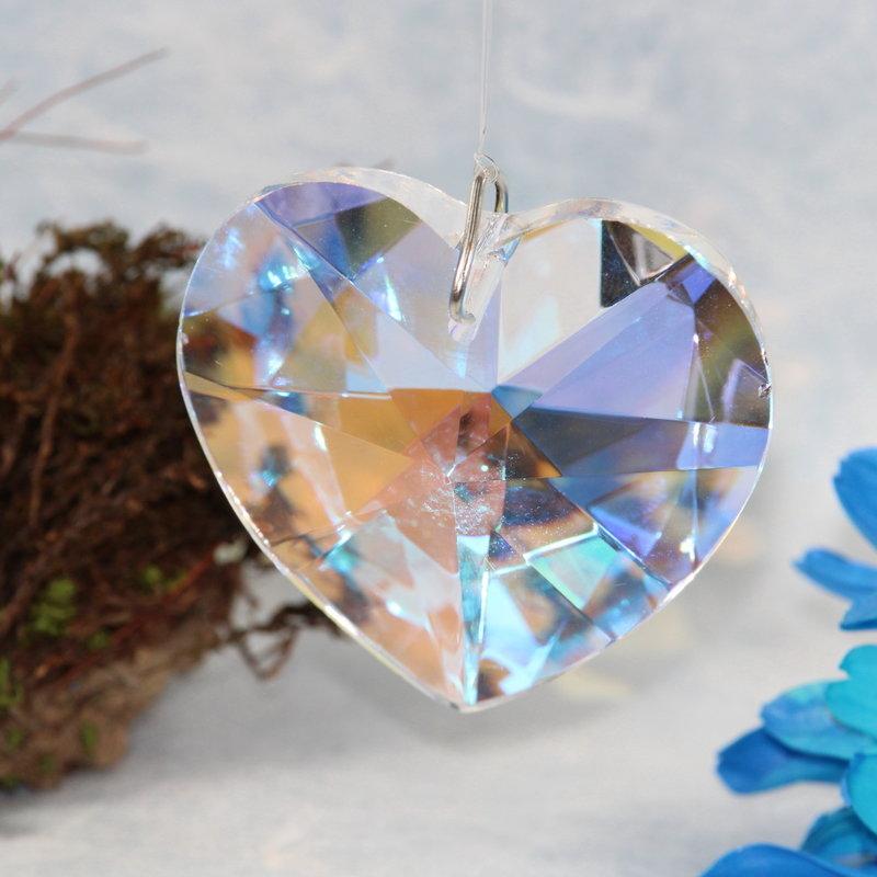 Iridescent Heart Window Crystal