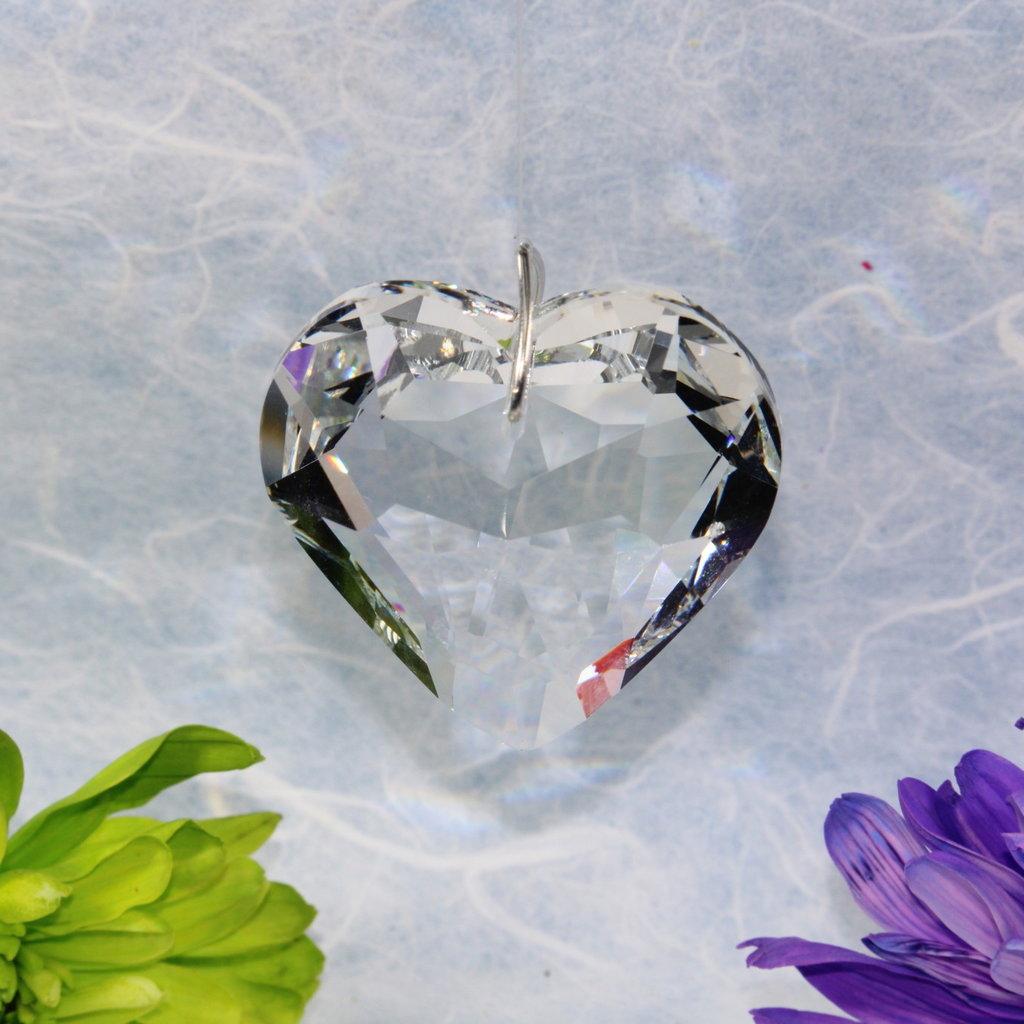 Puffed Heart Window Crystal