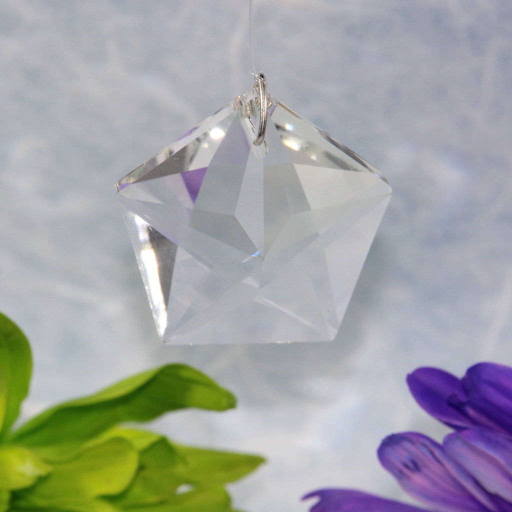 Star Pentagon Window Crystal