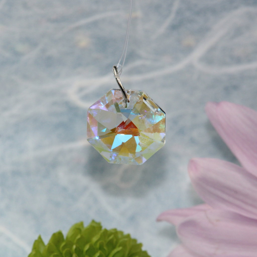 Iridescent Small Octagonal Window Crystal