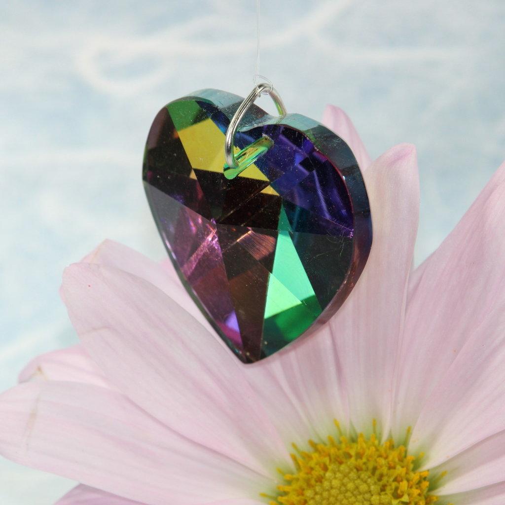 Heart Prism Window Crystal