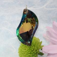 Mirrored Coloured Tear Drop Hanging Window Crystal
