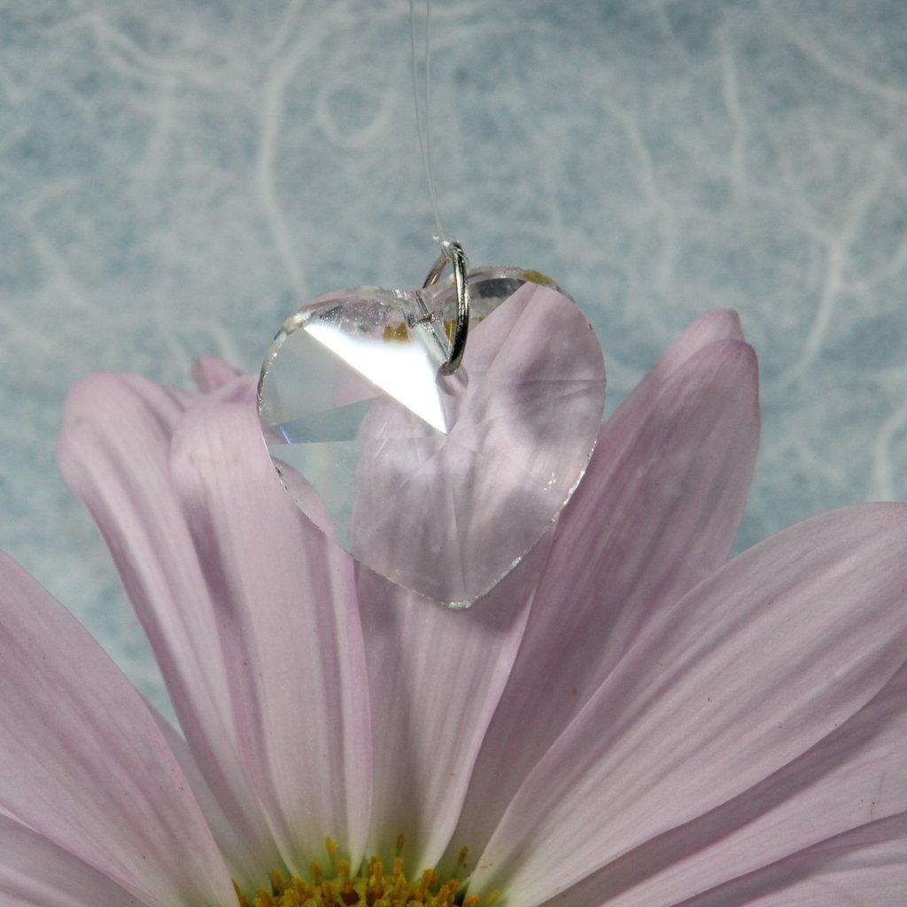 Small Heart Hanging Window Crystal