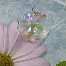 Iridescent Circle Window Crystal
