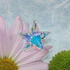 Iridescent star window crystal