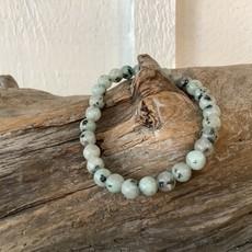 Kiwi Jasper bracelet 6 mm