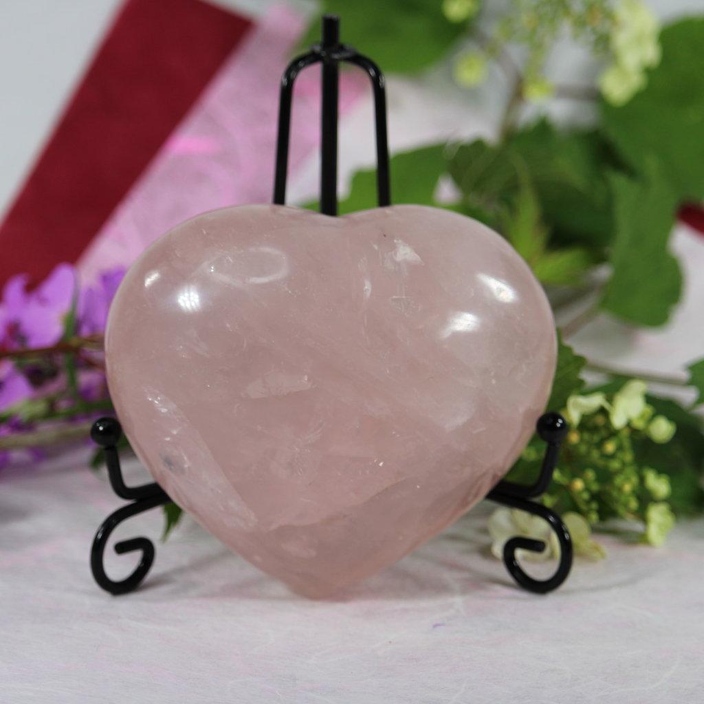 Rose Quartz Large Puffy Heart