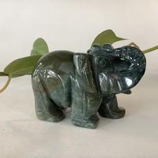 Moss Agate Elephant