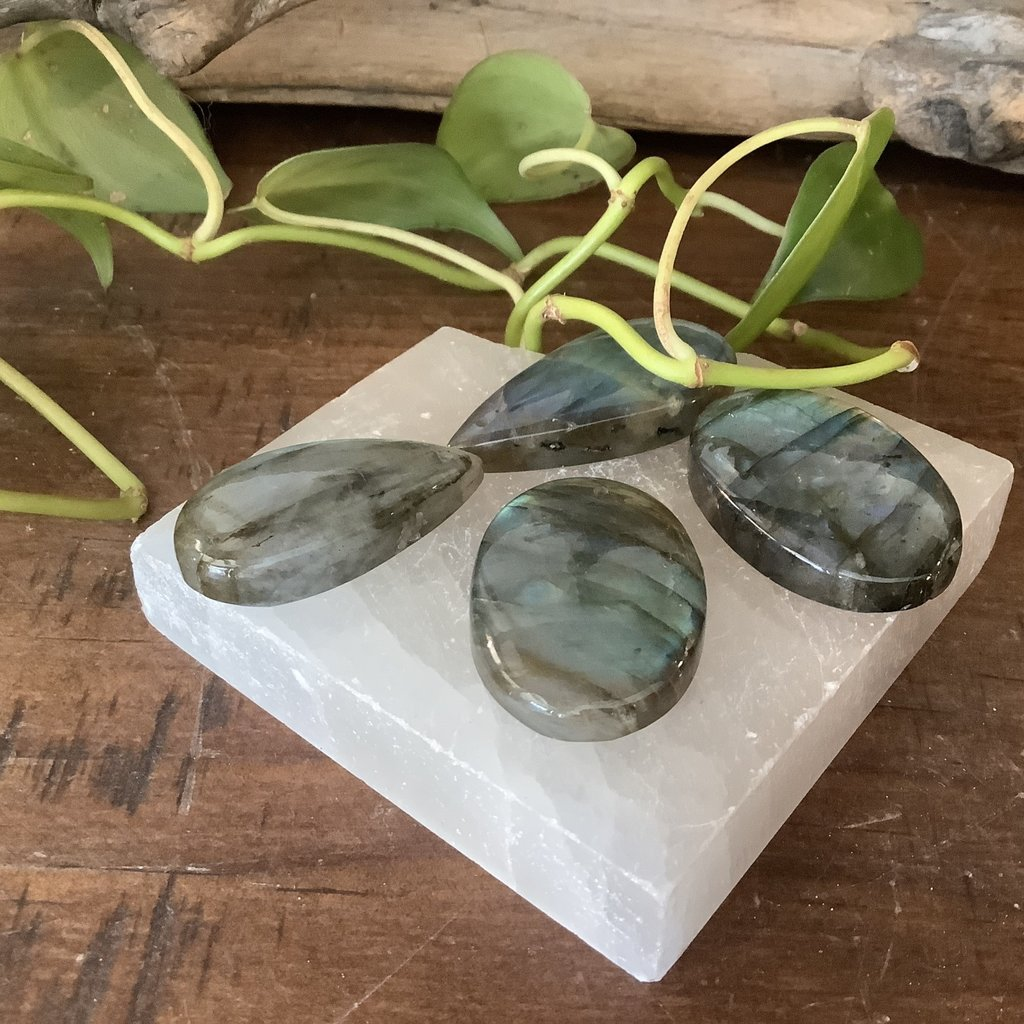 Labradorite with Drilled Hole