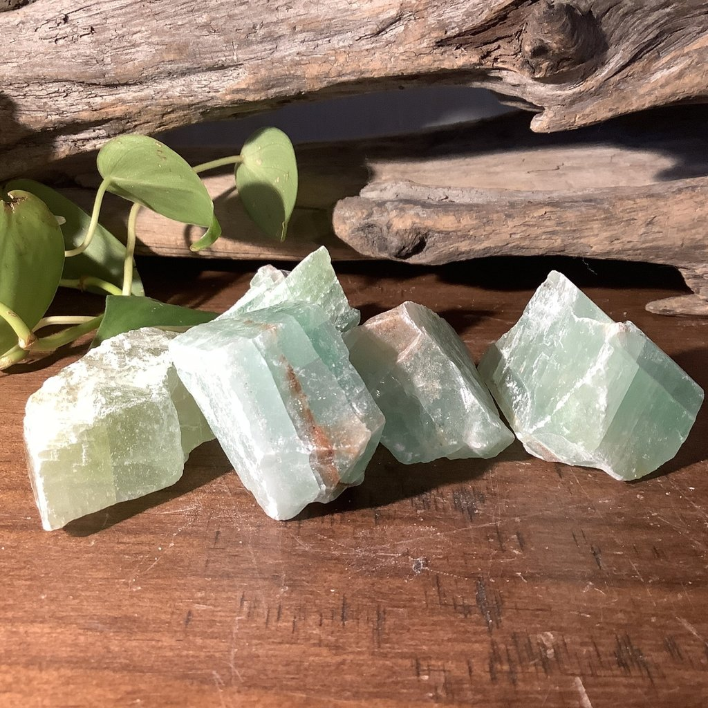 Green Calcite Raw