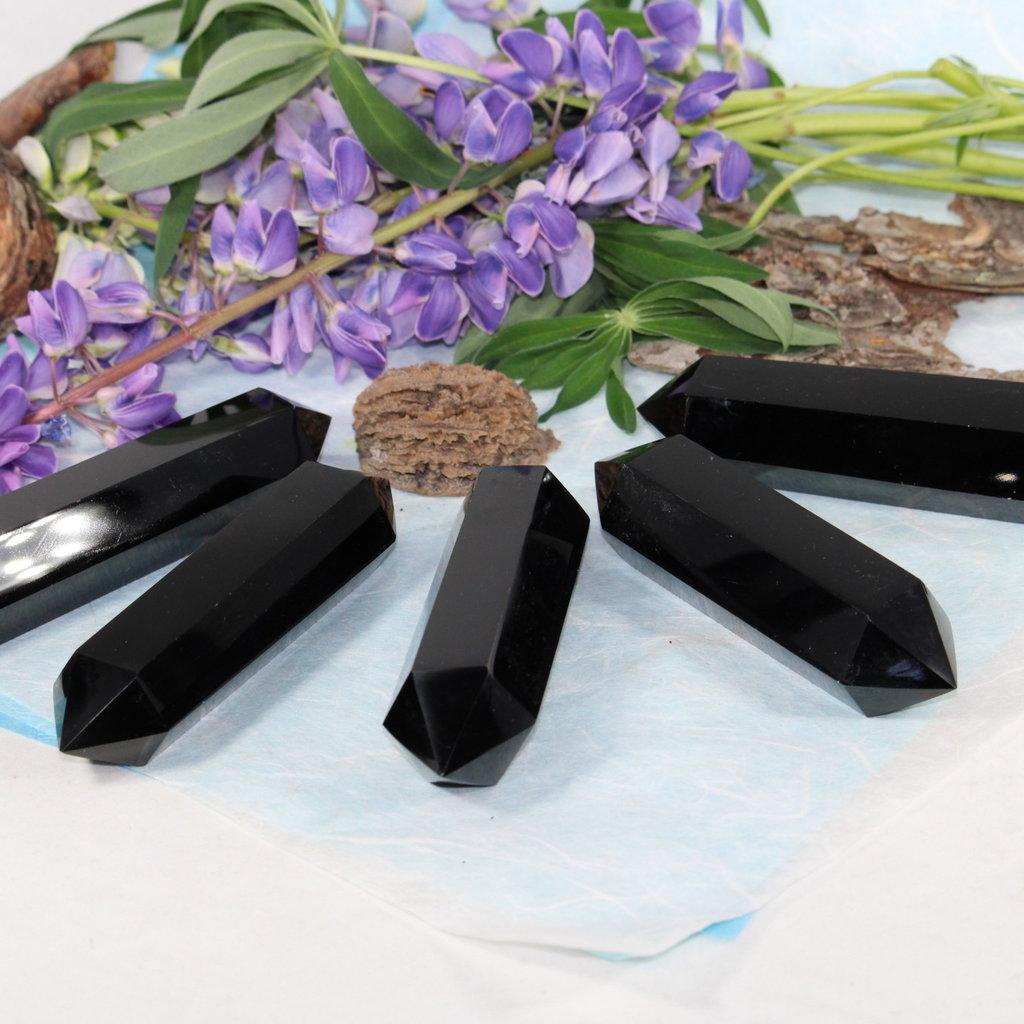 Black Obsidian Double Point
