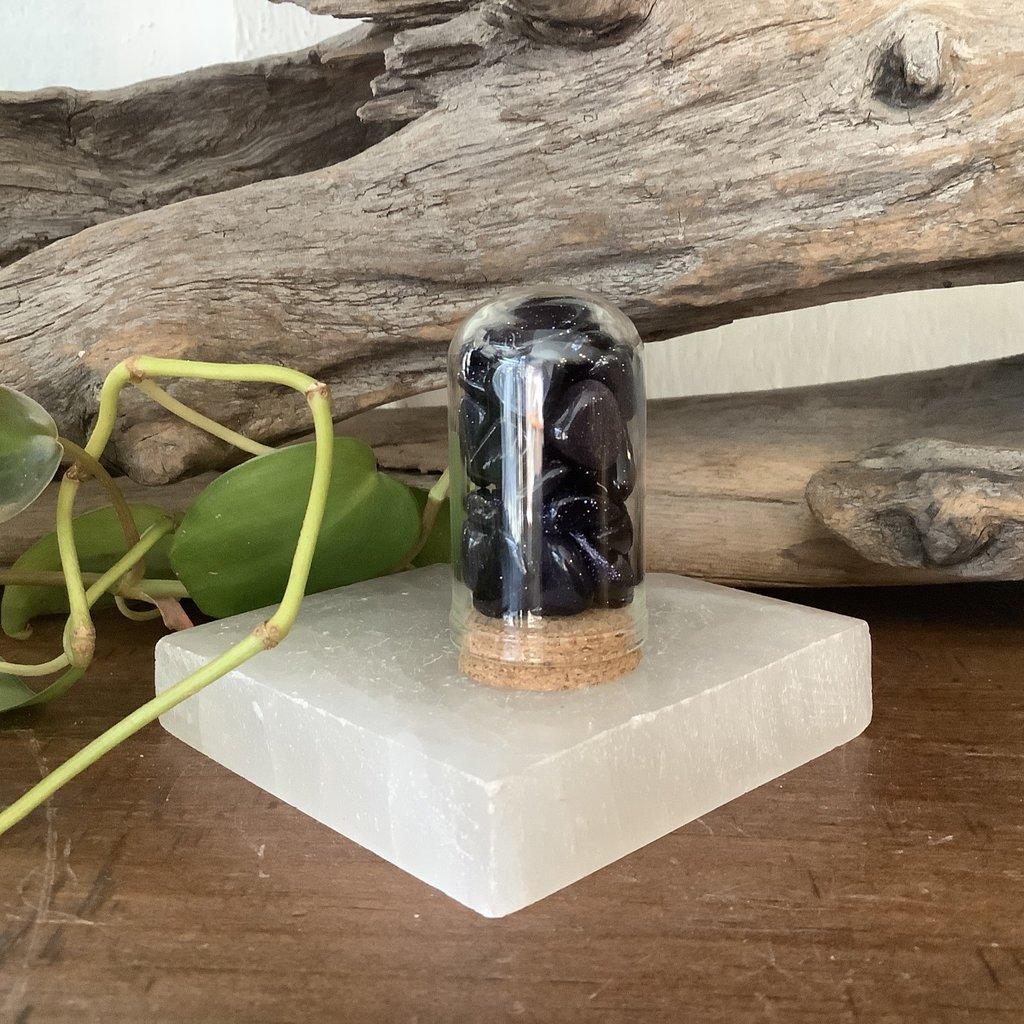Blue Goldstone Mini Jar