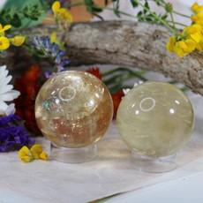 Honey Calcite Sphere 52.80mm ~ 54.62mm