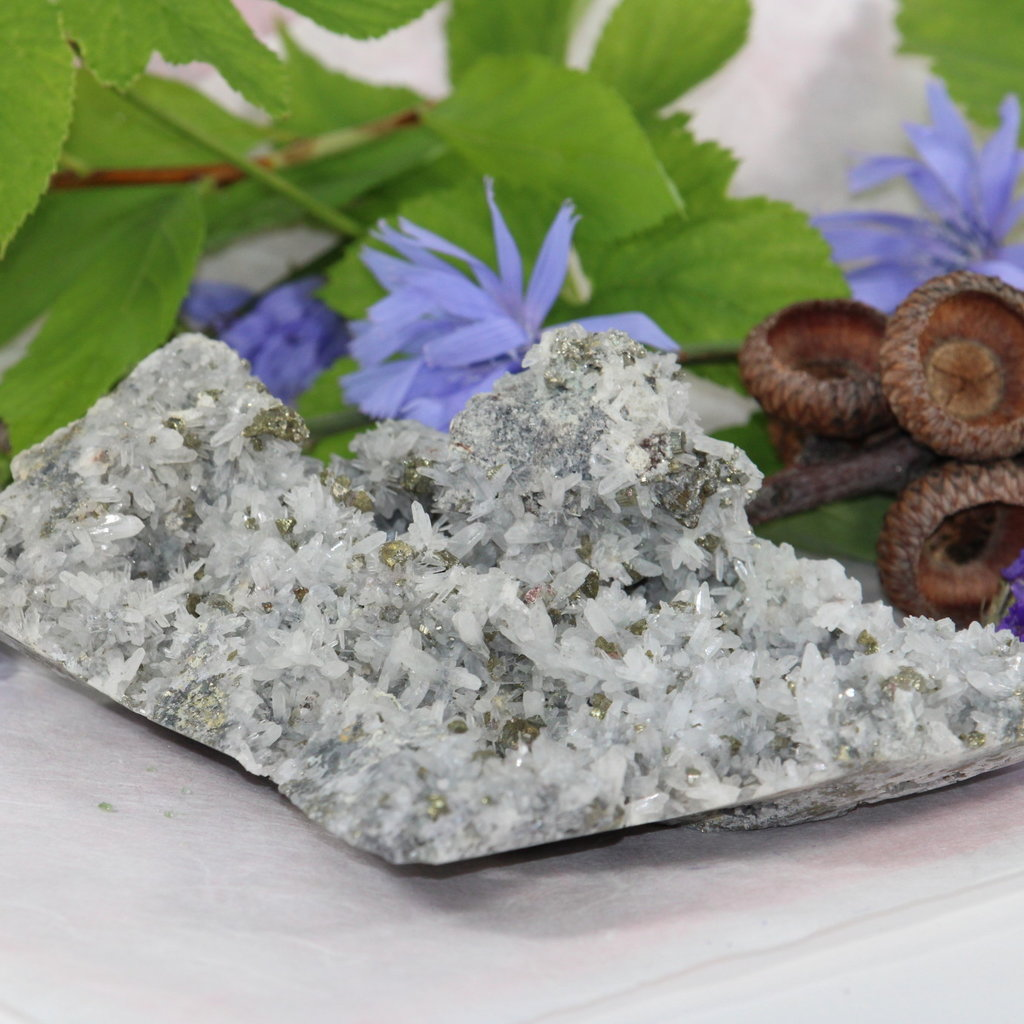 Pyrite in Quartz Raw