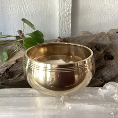 Brass Singing Bowl with 3 lines