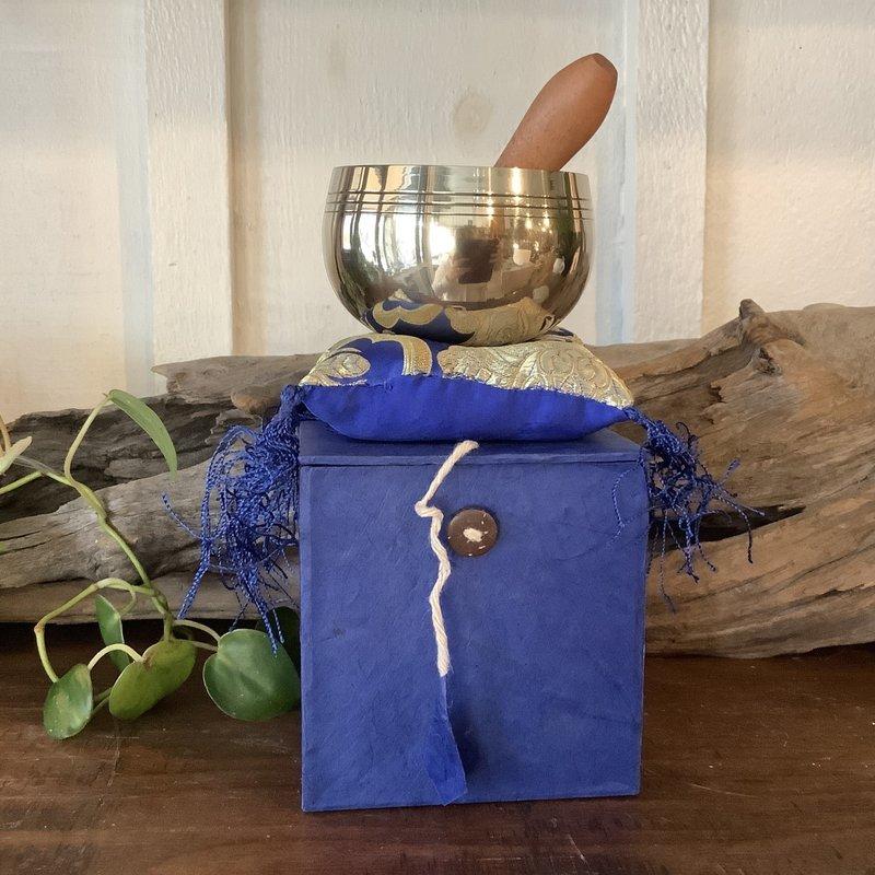 Blue Box Set Singing Bowl from Nepal