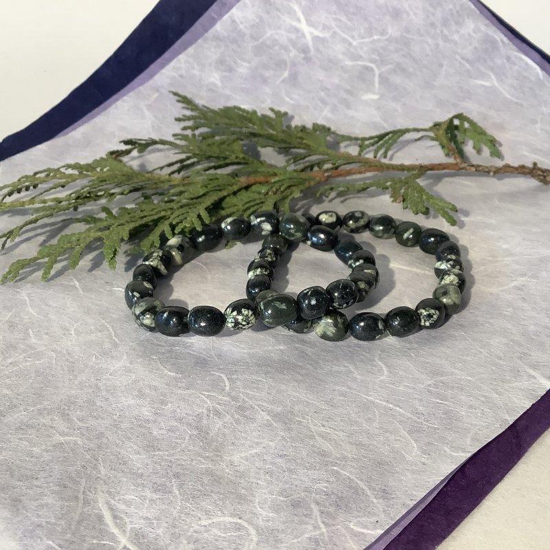 Chinese Writing Stone Bracelet