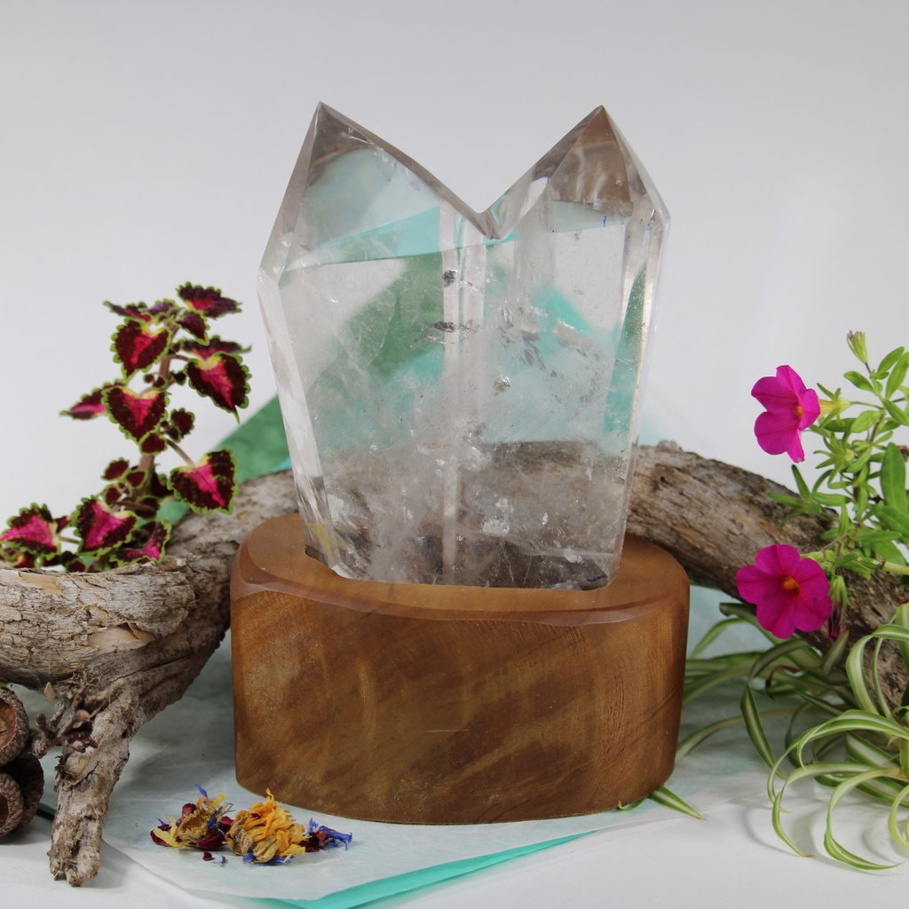 Quartz Double Point with Stand