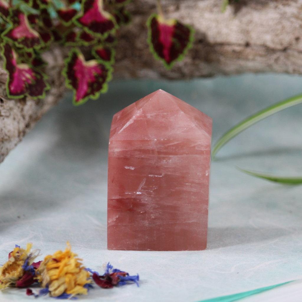 Strawberry Himalayan Calcite Tower