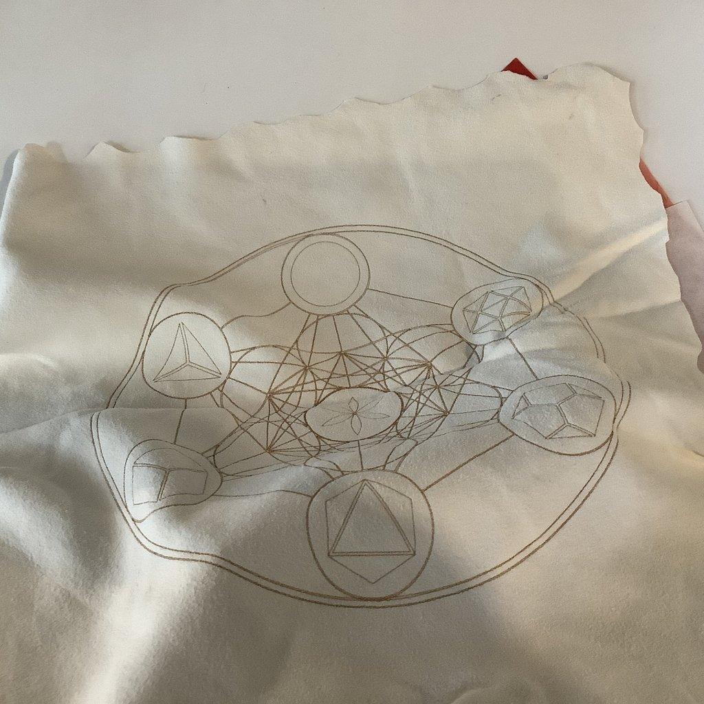 Leather grid mat