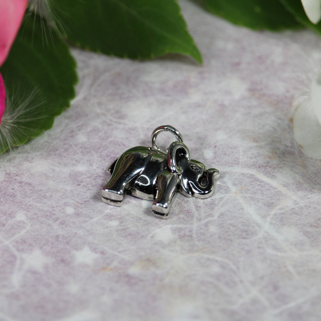 Elephant Silver Charm