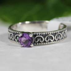 Amethyst Silver Ring size 8
