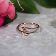 Arrow Rose Gold Plate Ring size 8