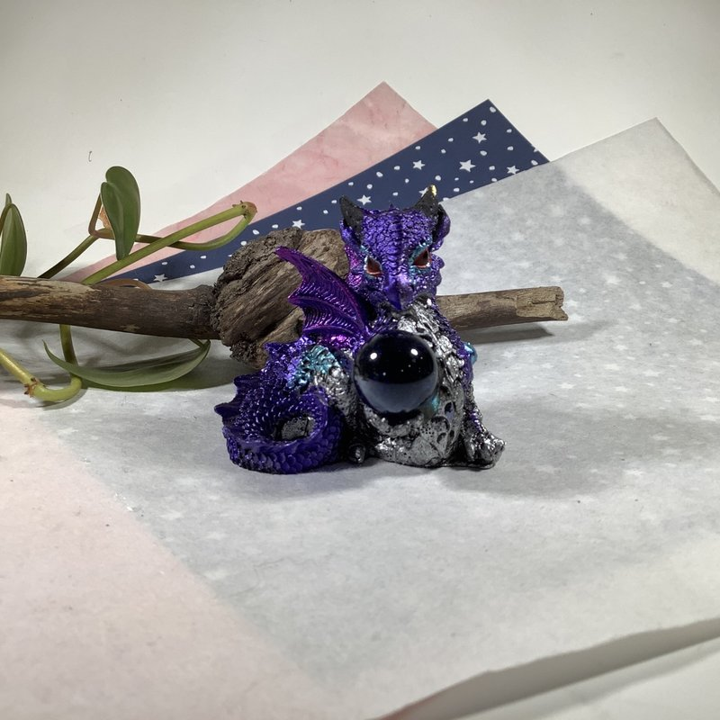 Purple Dragon with Sphere