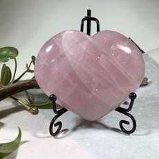 Rose Quartz Giant Puffy Heart