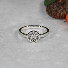 Pentacle Silver Ring size 10