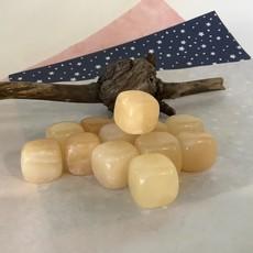Honey Calcite Cube