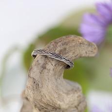 Silver Braid Ring Size 6
