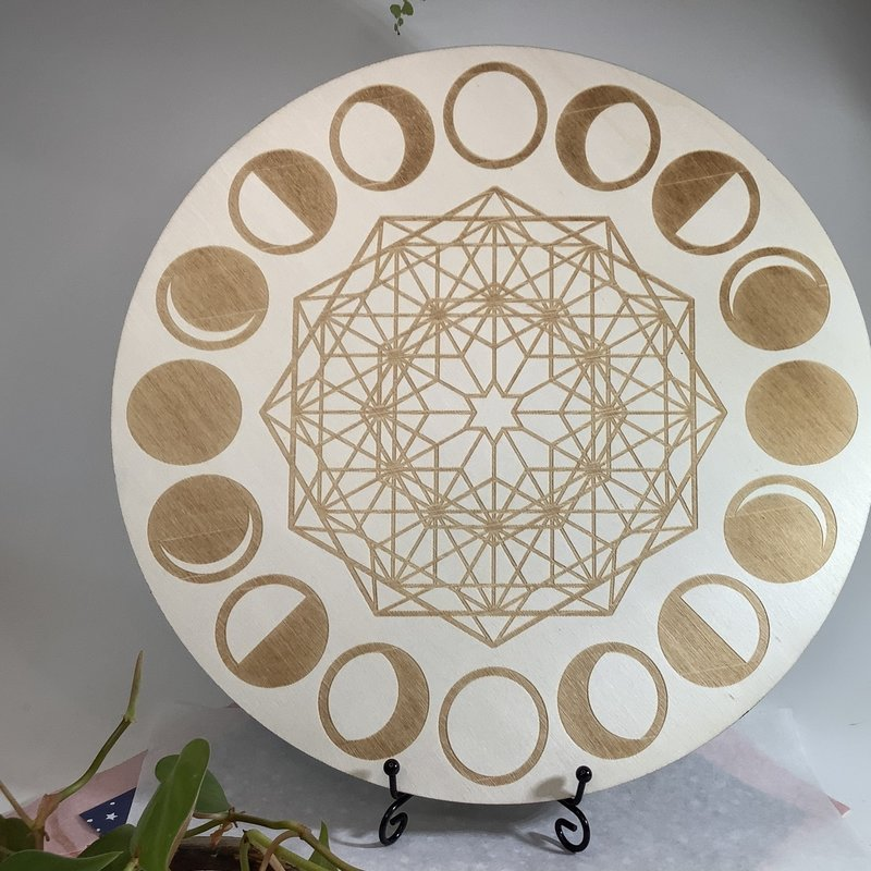 "Moon Cycles 12"" Crystal Grid"