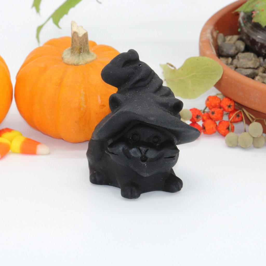 Black Obsidian Witch Cat