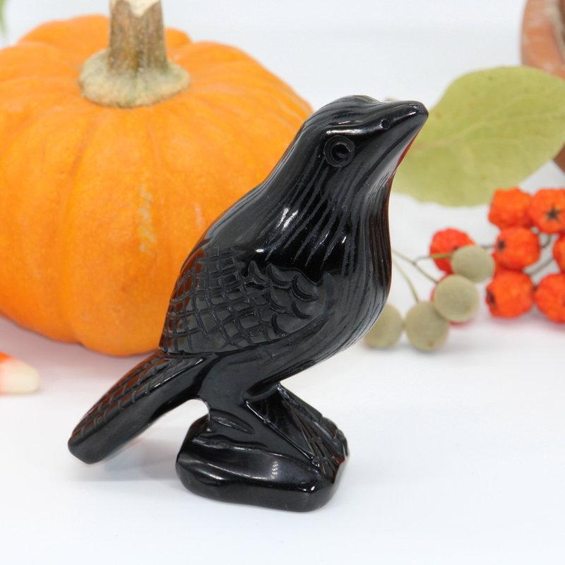 Black Obsidian Raven