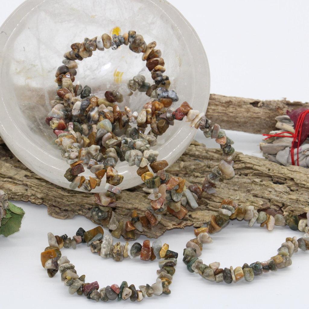 Ocean Jasper Chip Bracelet